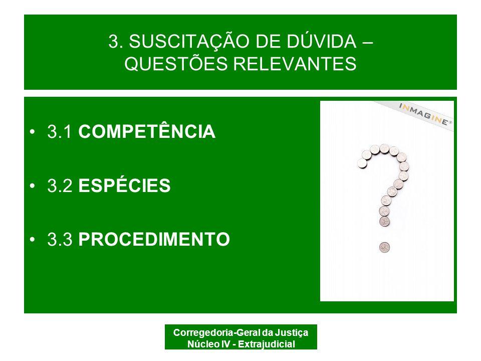 3. SUSCITAÇÃO DE DÚVIDA – QUESTÕES RELEVANTES