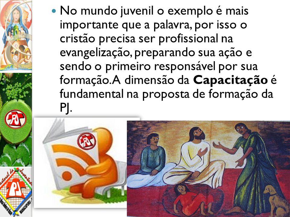 No mundo juvenil o exemplo é mais importante que a palavra, por isso o cristão precisa ser profissional na evangelização, preparando sua ação e sendo o primeiro responsável por sua formação.