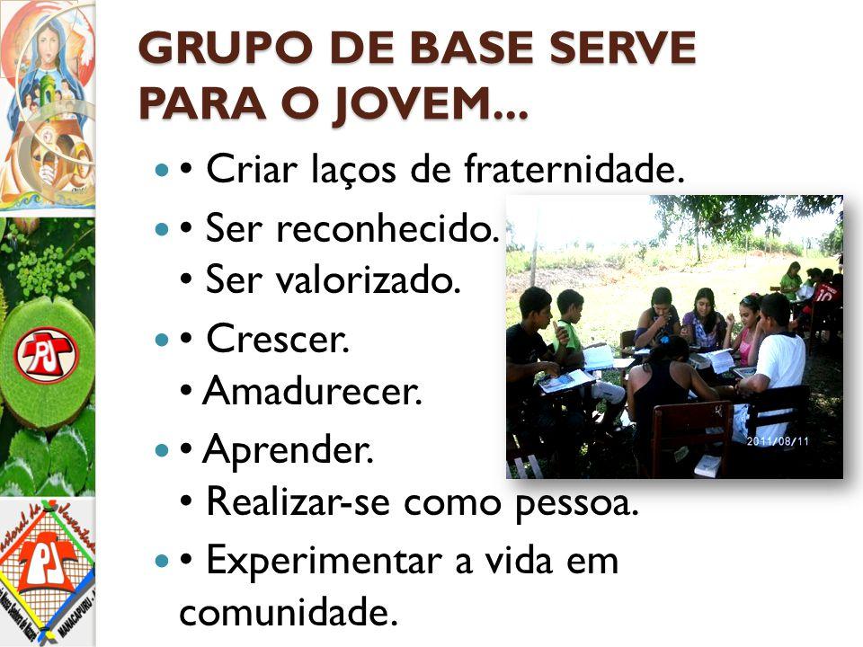 GRUPO DE BASE SERVE PARA O JOVEM...