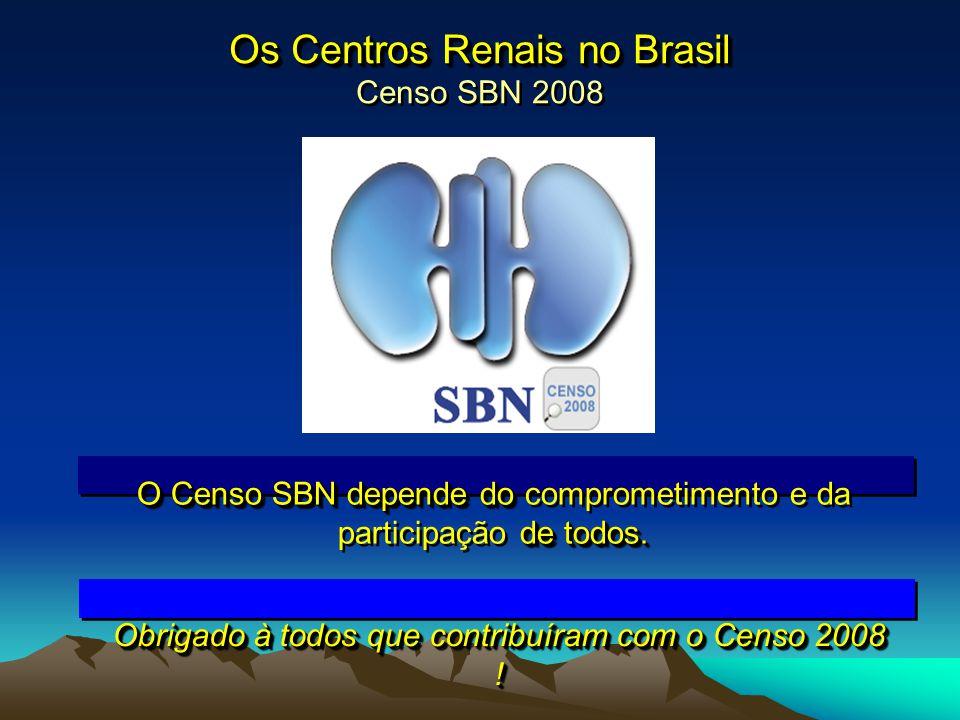 Os Centros Renais no Brasil Censo SBN 2008
