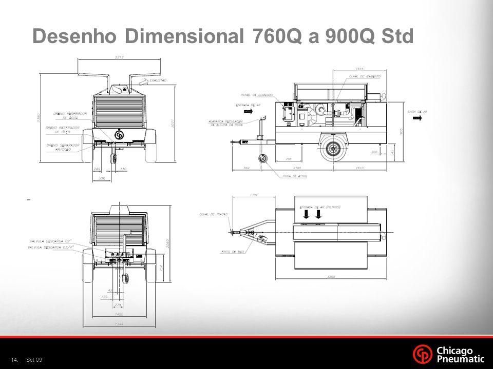 Desenho Dimensional 760Q a 900Q Std