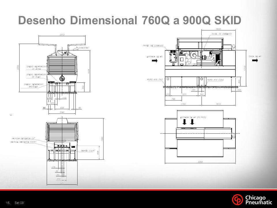 Desenho Dimensional 760Q a 900Q SKID