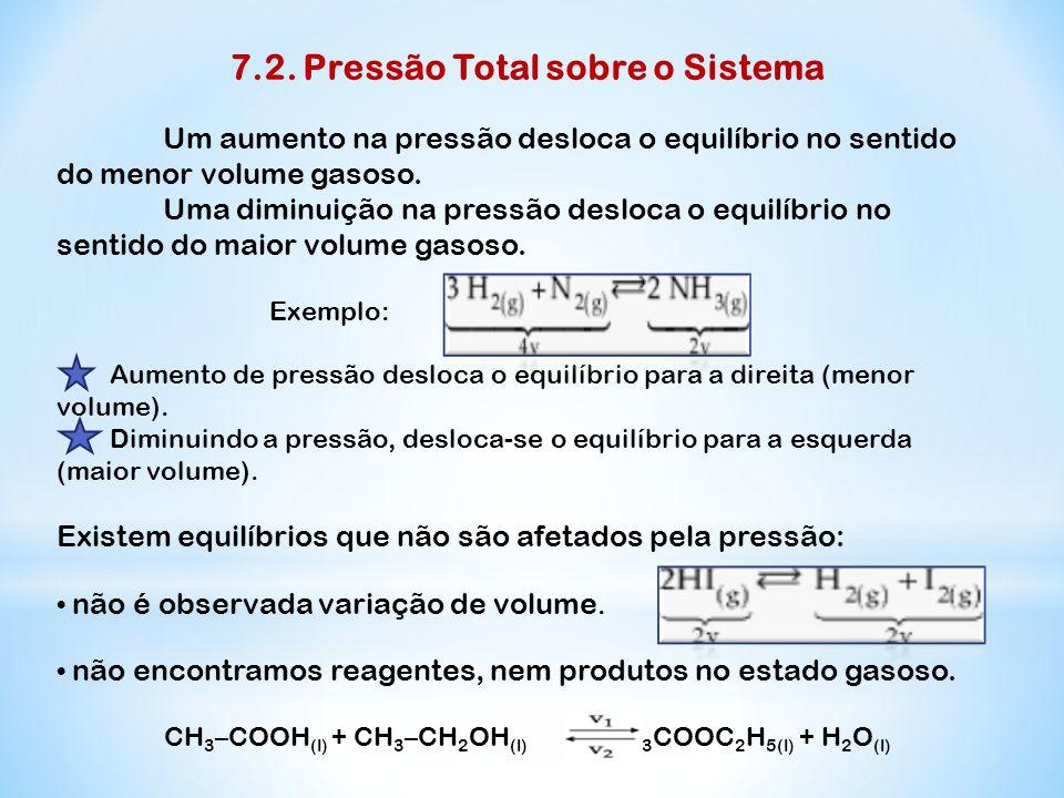 7.2. Pressão Total sobre o Sistema