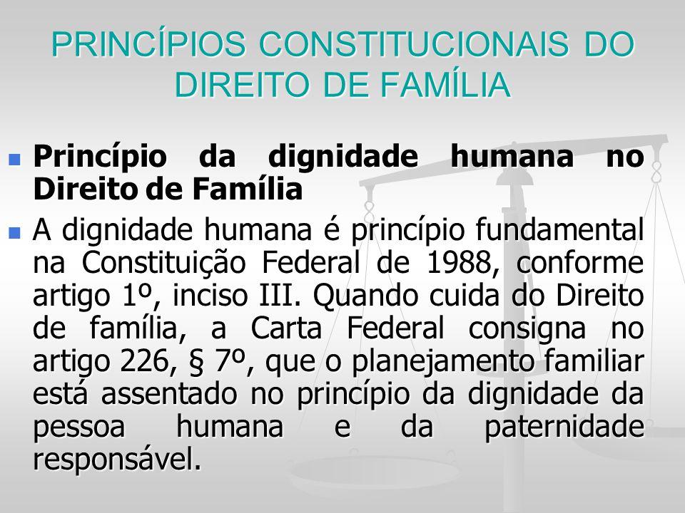 PRINCÍPIOS CONSTITUCIONAIS DO DIREITO DE FAMÍLIA