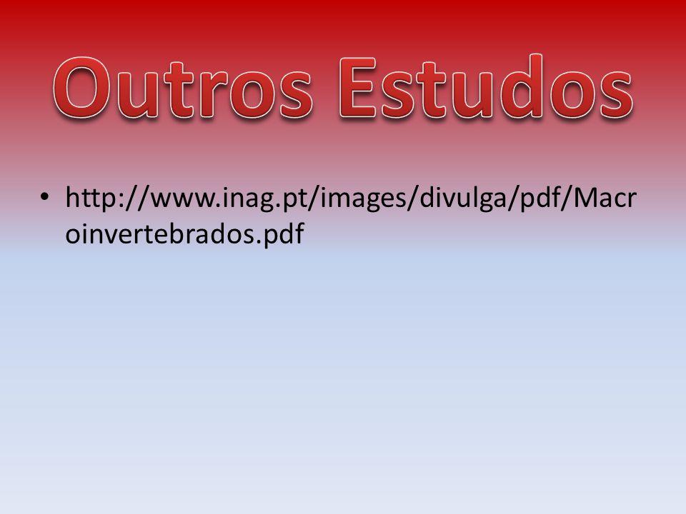 Outros Estudos http://www.inag.pt/images/divulga/pdf/Macroinvertebrados.pdf