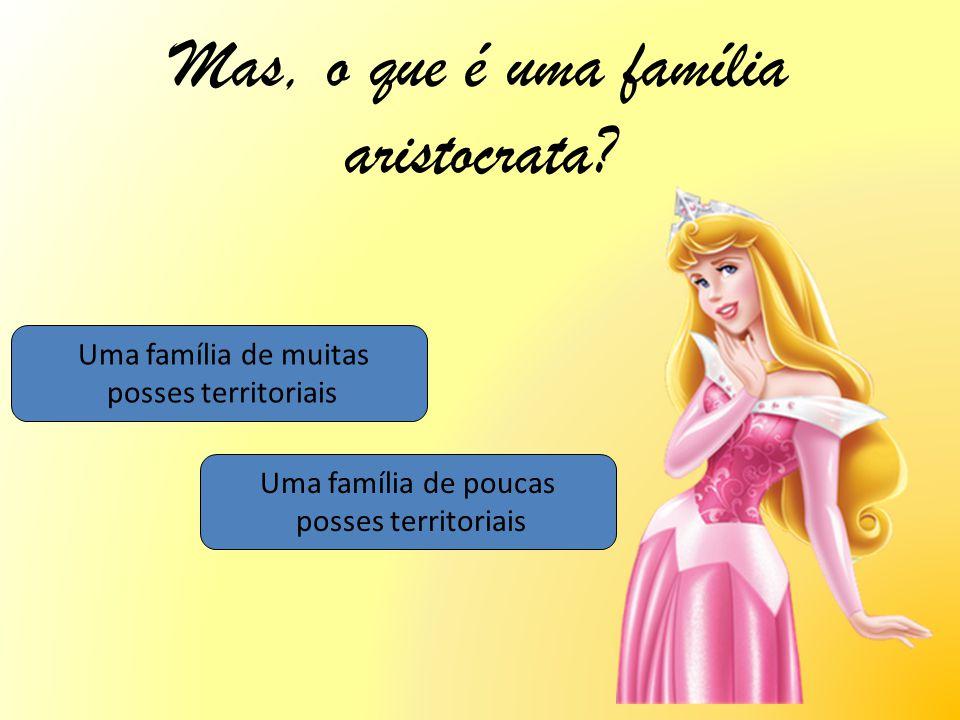 Mas, o que é uma família aristocrata