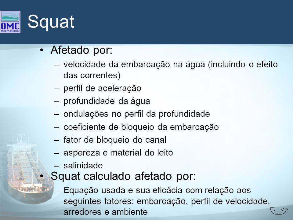Squat Afetado por: Squat calculado afetado por: