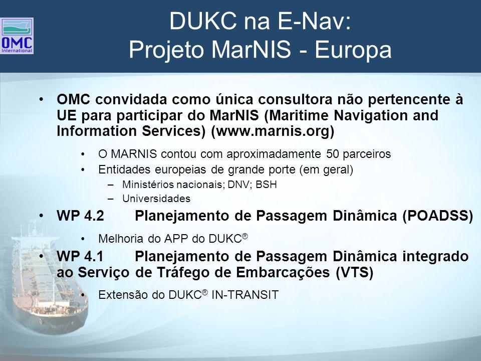 DUKC na E-Nav: Projeto MarNIS - Europa