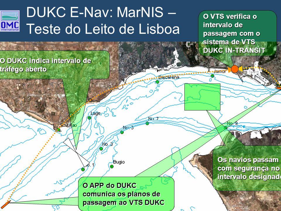 DUKC E-Nav: MarNIS – Teste do Leito de Lisboa