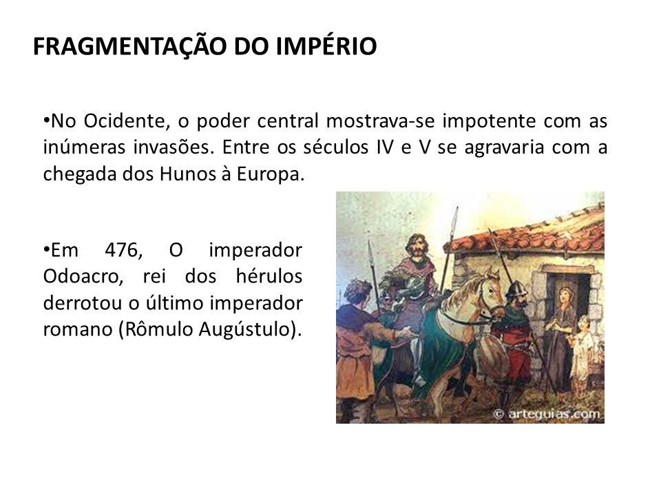 FRAGMENTAÇÃO DO IMPÉRIO