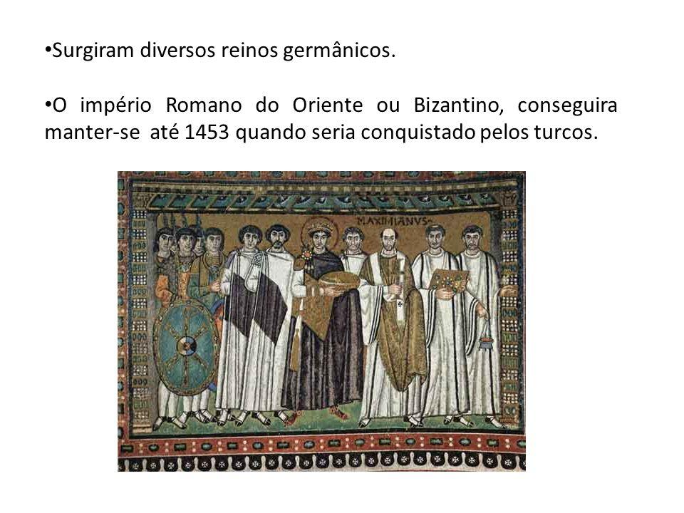 Surgiram diversos reinos germânicos.