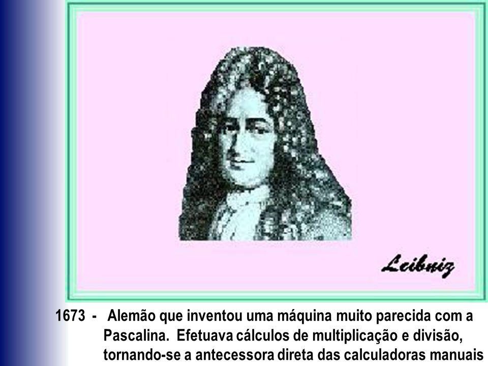 1673 - Alemão que inventou uma máquina muito parecida com a