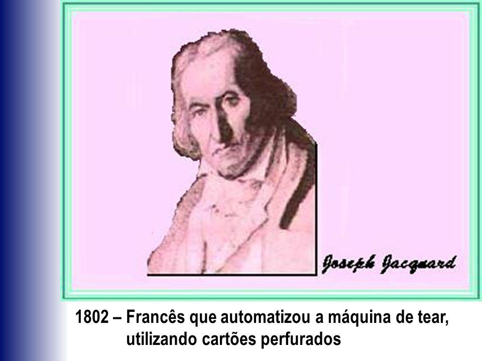 1802 – Francês que automatizou a máquina de tear,