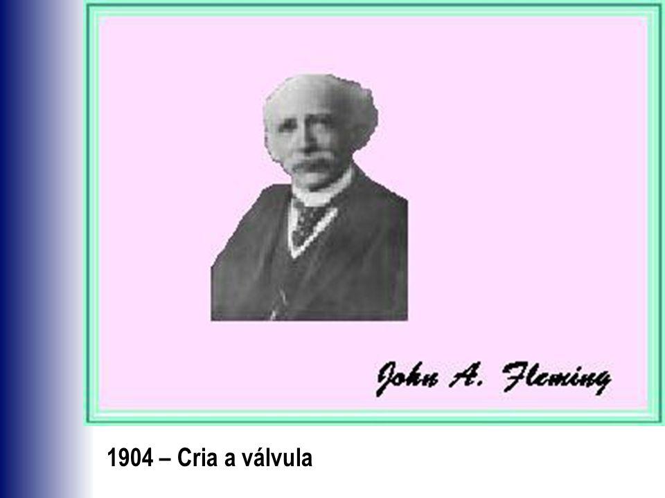 1904 – Cria a válvula