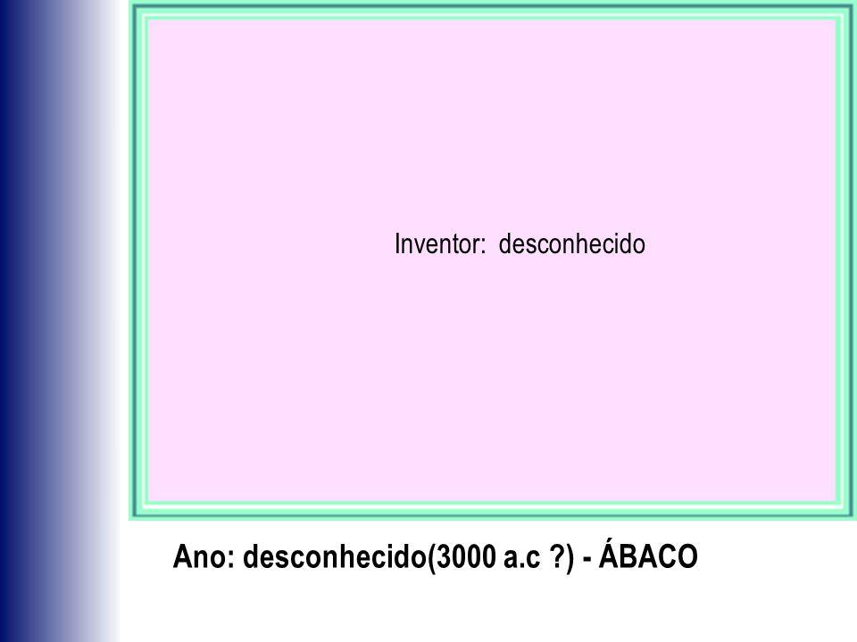 Ano: desconhecido(3000 a.c ) - ÁBACO