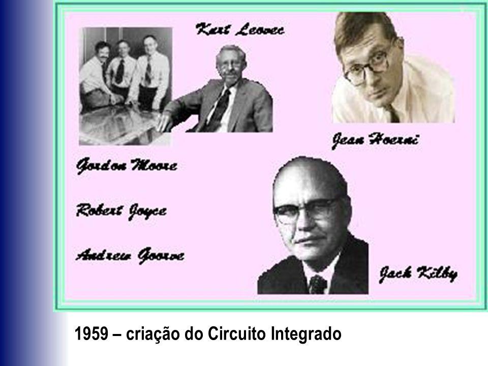 1959 – criação do Circuito Integrado