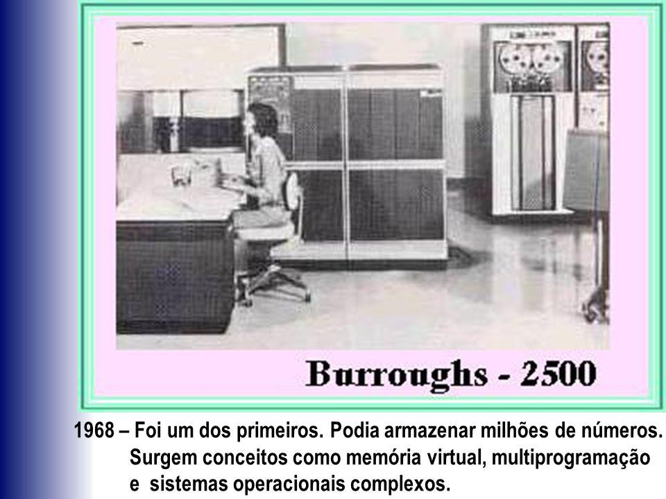 1968 – Foi um dos primeiros. Podia armazenar milhões de números.