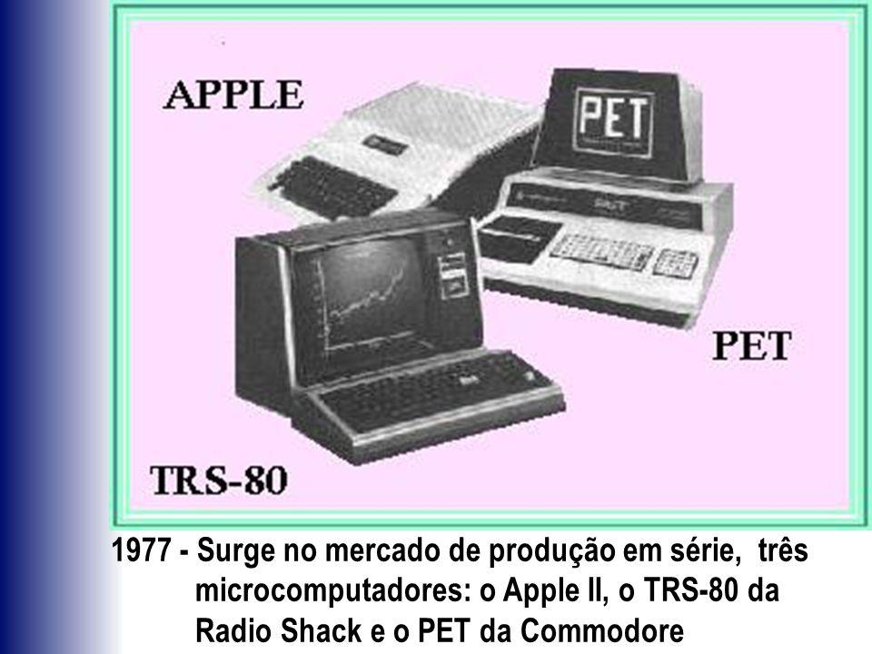 1977 - Surge no mercado de produção em série, três