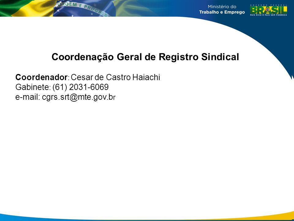 Coordenação Geral de Registro Sindical