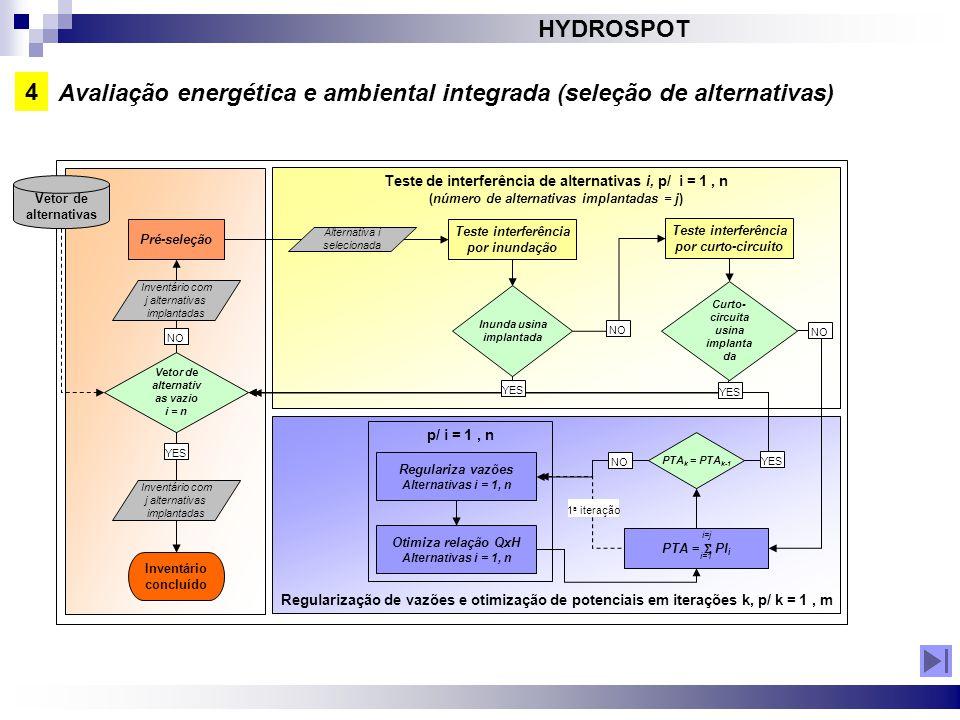 Avaliação energética e ambiental integrada (seleção de alternativas)