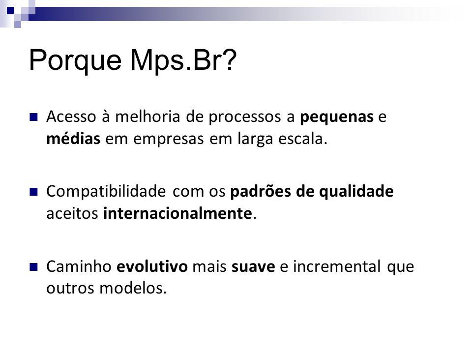 Porque Mps.Br Acesso à melhoria de processos a pequenas e médias em empresas em larga escala.