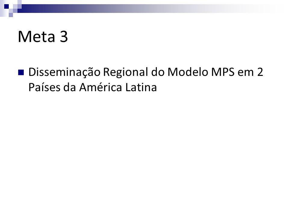 Meta 3 Disseminação Regional do Modelo MPS em 2 Países da América Latina