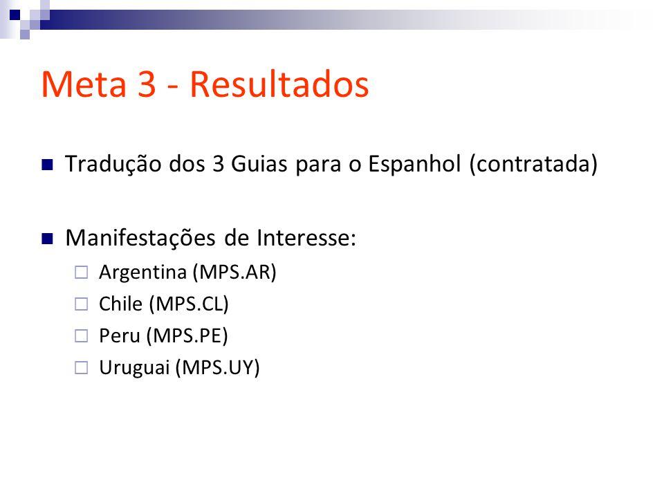 Meta 3 - Resultados Tradução dos 3 Guias para o Espanhol (contratada)
