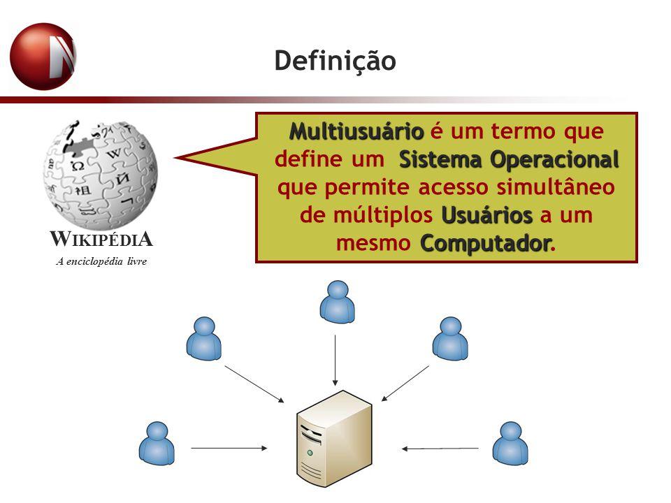Definição Multiusuário é um termo que define um Sistema Operacional que permite acesso simultâneo de múltiplos Usuários a um mesmo Computador.