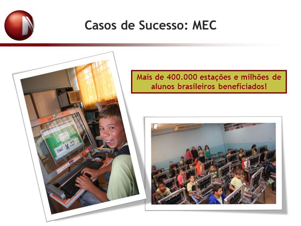 Mais de 400.000 estações e milhões de alunos brasileiros beneficiados!