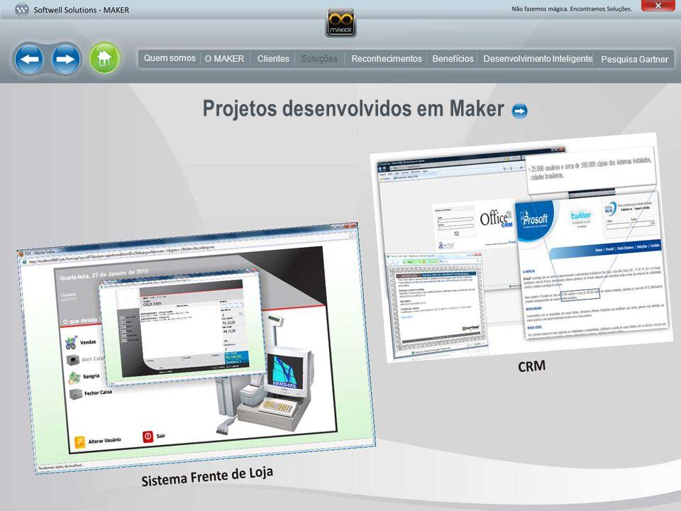 Projetos desenvolvidos em Maker