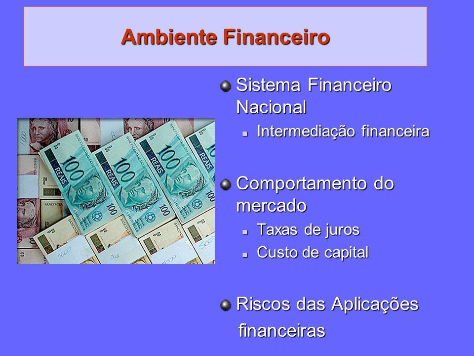 Ambiente Financeiro Sistema Financeiro Nacional