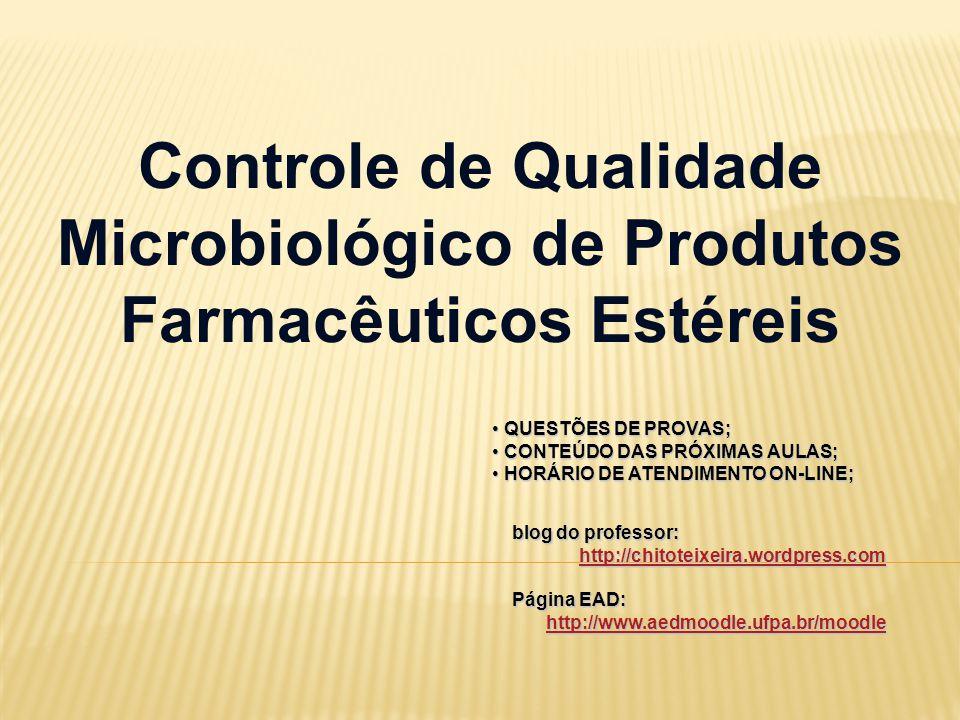 Controle de Qualidade Microbiológico de Produtos Farmacêuticos Estéreis