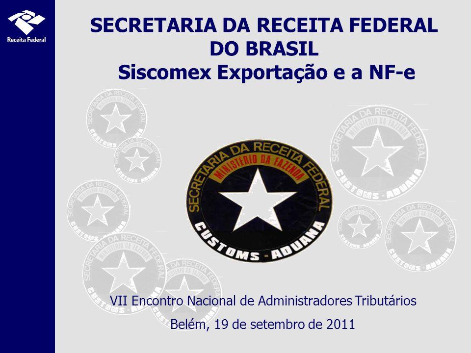 SECRETARIA DA RECEITA FEDERAL DO BRASIL Siscomex Exportação e a NF-e