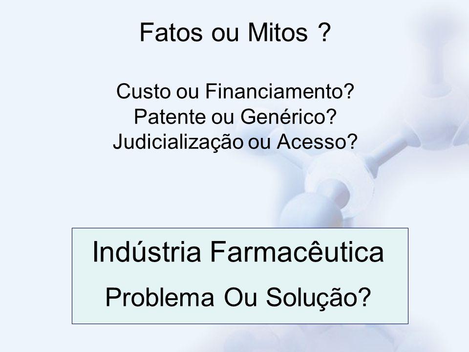 Indústria Farmacêutica Problema Ou Solução