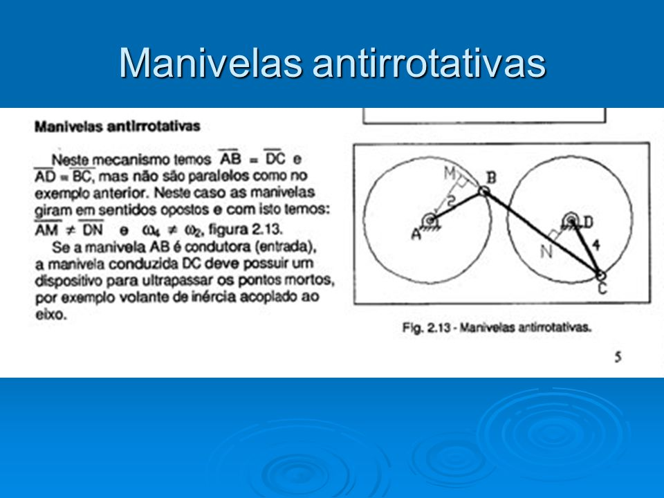 Manivelas antirrotativas