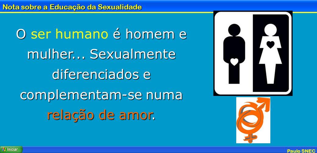 O ser humano é homem e mulher