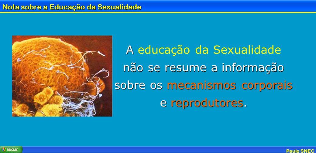 A educação da Sexualidade não se resume a informação