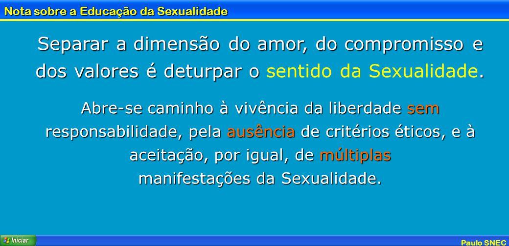 manifestações da Sexualidade.