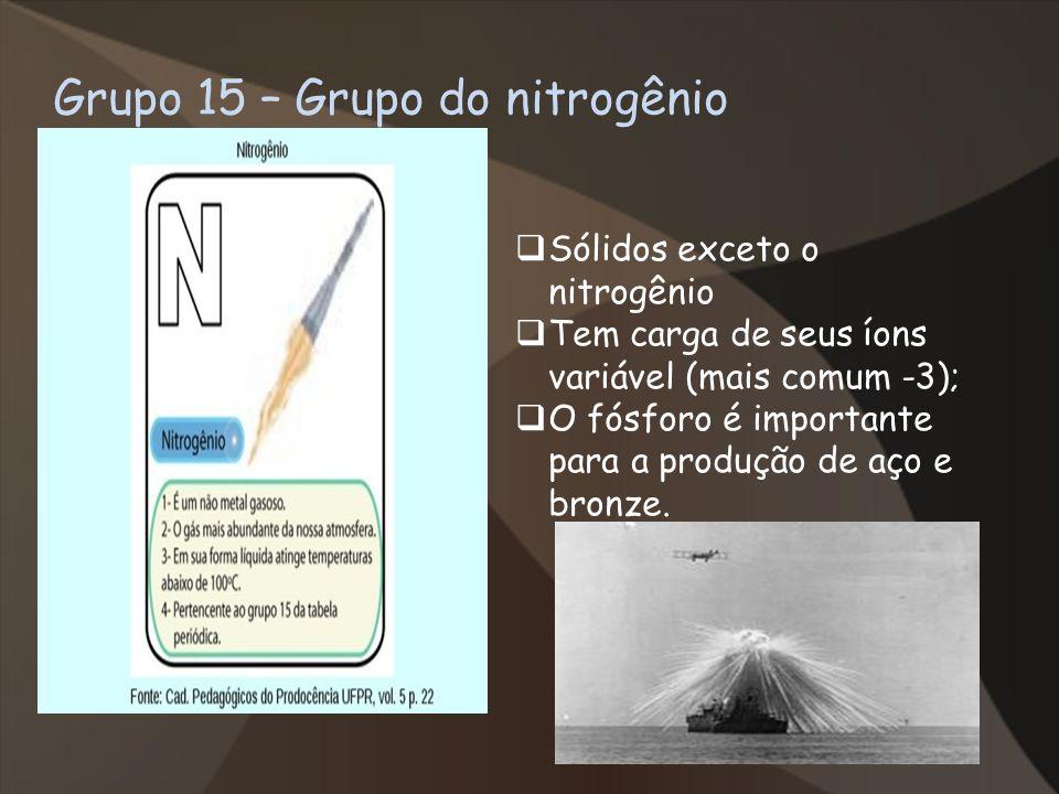 Grupo 15 – Grupo do nitrogênio