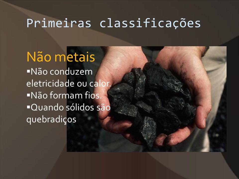 Não metais Primeiras classificações