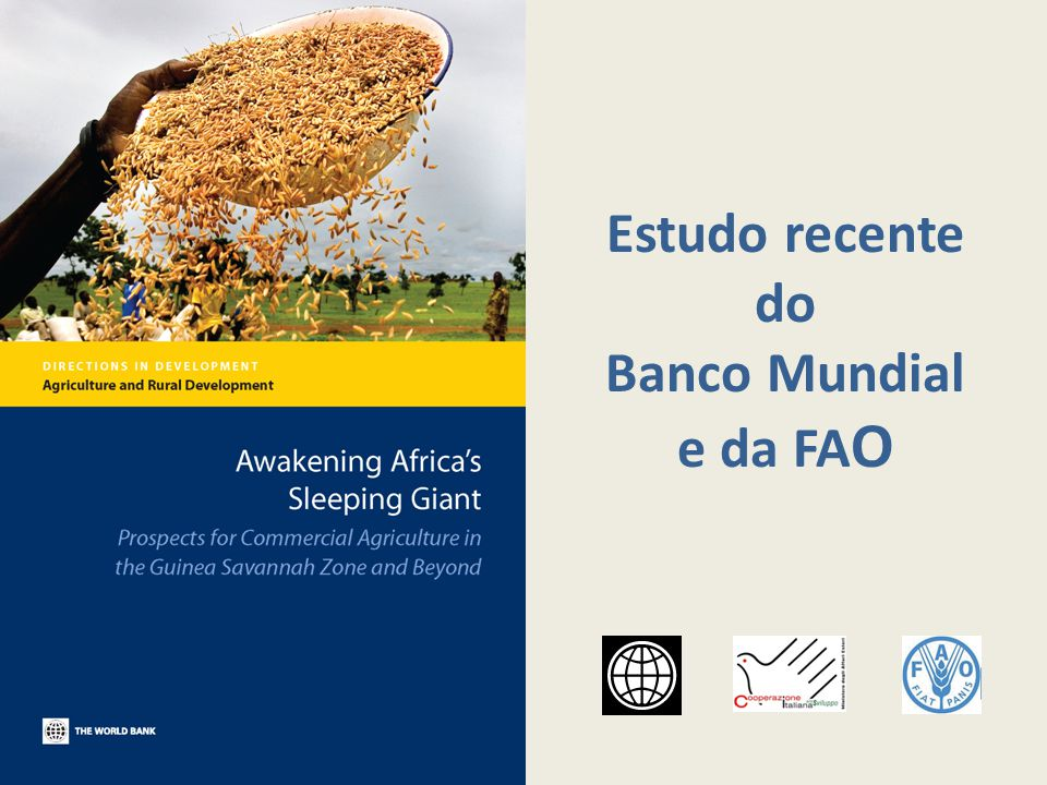 Estudo recente do Banco Mundial e da FAO