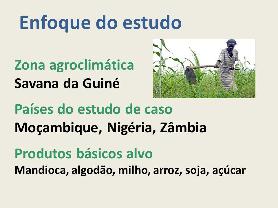 Enfoque do estudo Zona agroclimática Savana da Guiné