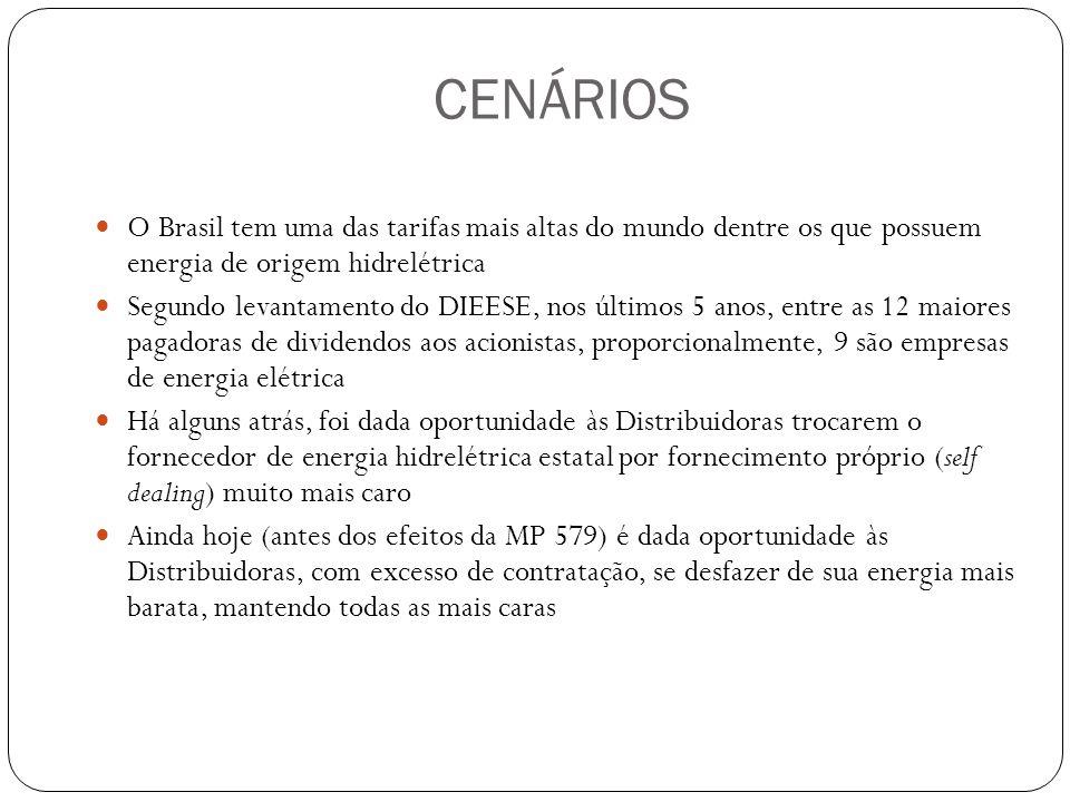 CENÁRIOS O Brasil tem uma das tarifas mais altas do mundo dentre os que possuem energia de origem hidrelétrica.