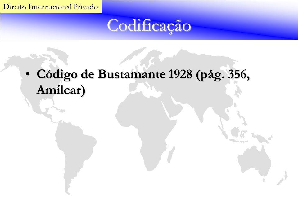 Codificação Código de Bustamante 1928 (pág. 356, Amílcar)