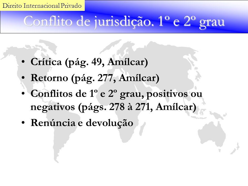 Conflito de jurisdição. 1º e 2º grau