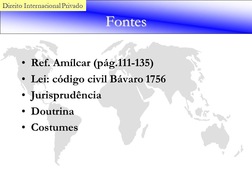 Fontes Ref. Amílcar (pág.111-135) Lei: código civil Bávaro 1756