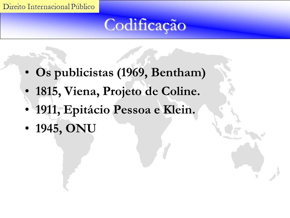 Codificação Os publicistas (1969, Bentham)