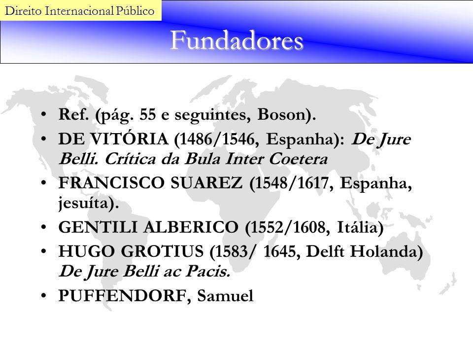 Fundadores Ref. (pág. 55 e seguintes, Boson).