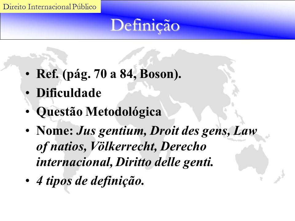 Definição Ref. (pág. 70 a 84, Boson). Dificuldade Questão Metodológica