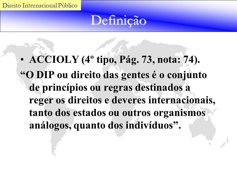 Definição ACCIOLY (4º tipo, Pág. 73, nota: 74).